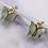 Thumbnail: Grey Butterfly Hoop Earrings