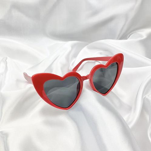 Red Statement Heart Sunglasses