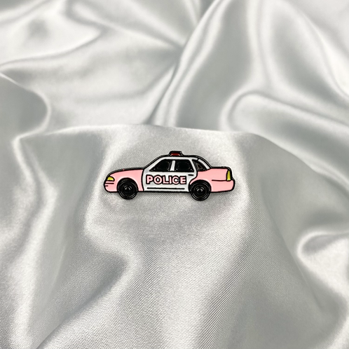 Police Car Pin Badge