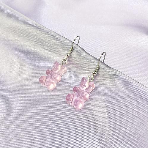 Light Pink Gummy Bear Earrings