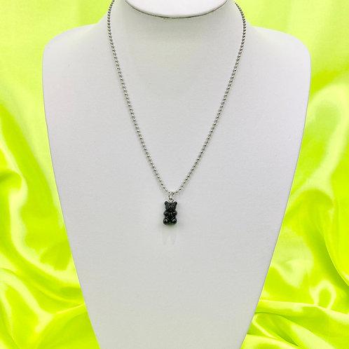Black Gummy Bear Necklace