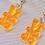Thumbnail: Orange Gummy Bear Earrings