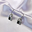Thumbnail: Silver Padlock Hoop Earrings