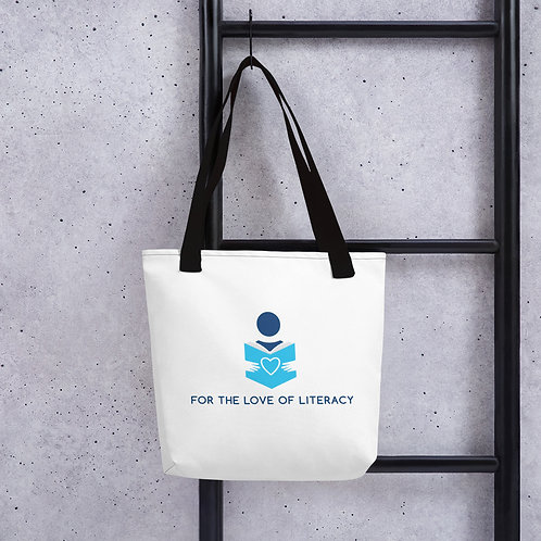 For the Love of Literacy Tote Bag