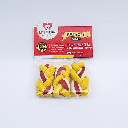 Trenza Triple Chew Huevo + Tocino