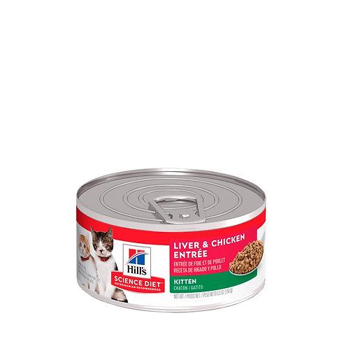 Lata Kitten Gourmet Liver & Chicken Entrée Hill's Science Diet