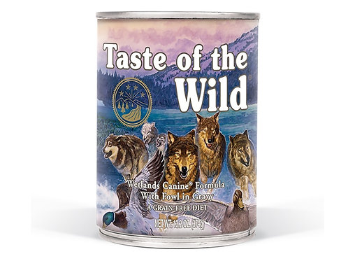 Taste of the Wild Lata Wetlands Canine Pato Asado