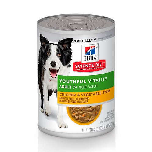 Lata Perro Adulto 7+ Youthful Vitality Pollo y Vegetales Hill's Science Diet