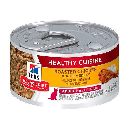 Lata Gato Adulto Healthy Cuisine Pollo Rostizado y Arroz Hill's Science Diet