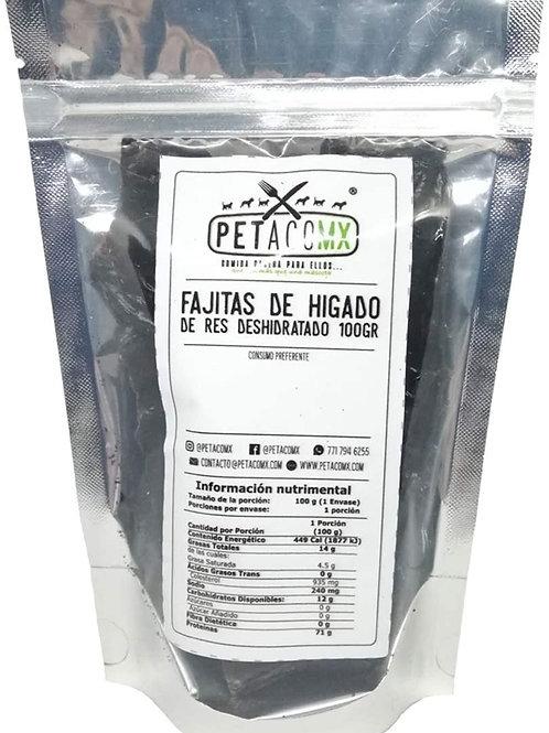 Petacomx Fajitas de Hígado de Res Deshidratado