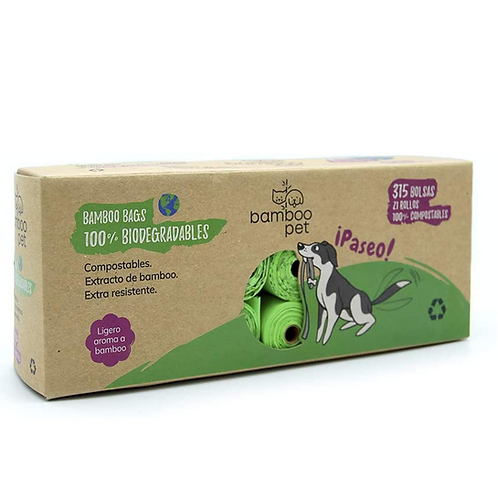 Bamboopet Bolsas Biodegradables (21 rollos)