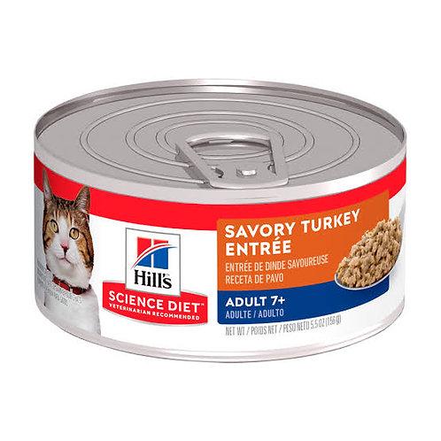 Lata Gato Adulto 7+ Savory Turkey Entrée Hill's Science Diet