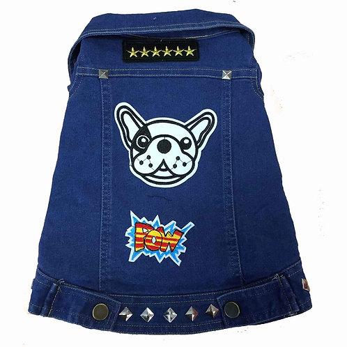 Bad Bone Denim Jacket Dog