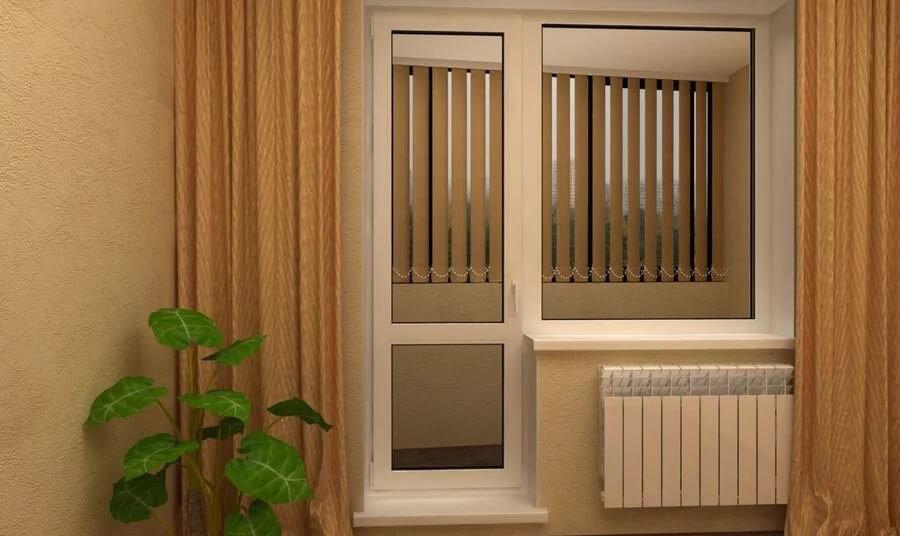 пластикові двері  та вікно на балкон