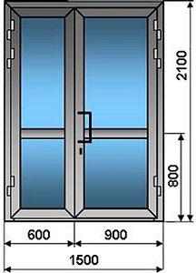 Пластиковые двери для магазина