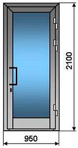 металлопластиковые двери для магазина