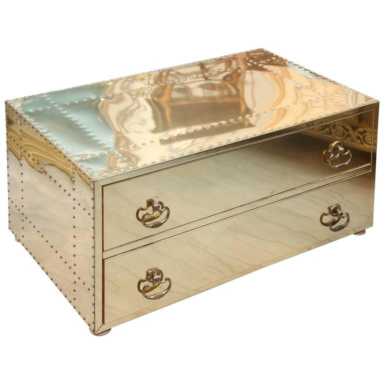 Sarreid Vintage Brass Chest