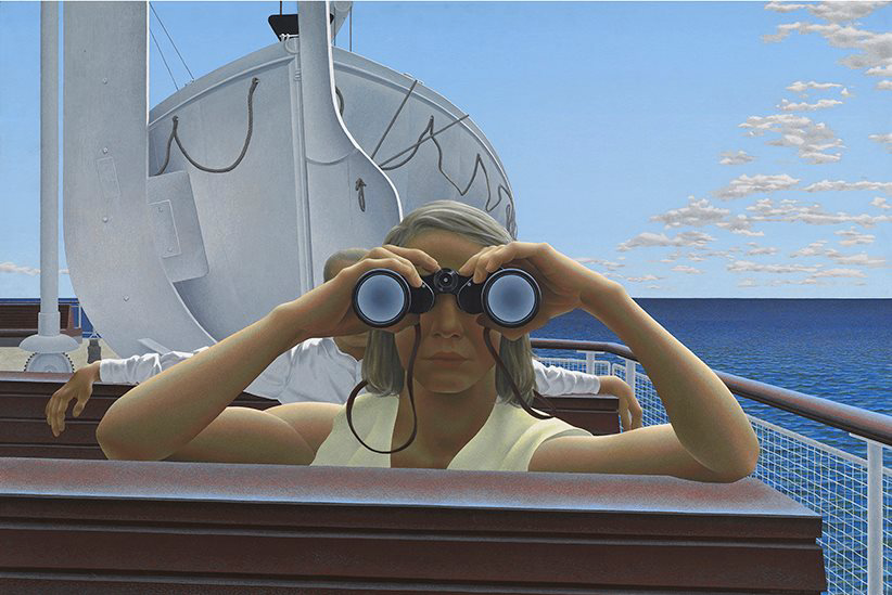 One of Hughene's favourites: ALEX COLVILLE (Canadian, 1920-2013) TO PRINCE EDWARD ISLAND, 1965 Acrylic emulsion on masonite 61.9 x 92.5 cm  © National Gallery of Canada, Ottawa