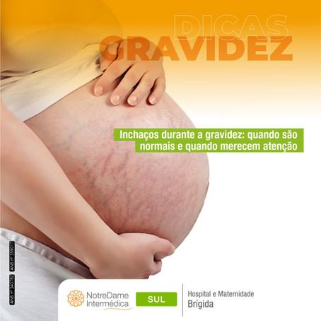 Inchaços durante a gravidez: quando são normais e quando merecem atenção