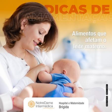 Alimentos que afetam o leite materno