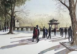 Winter Shadows at the Summer Palace
