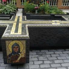 Крест с мозайкой