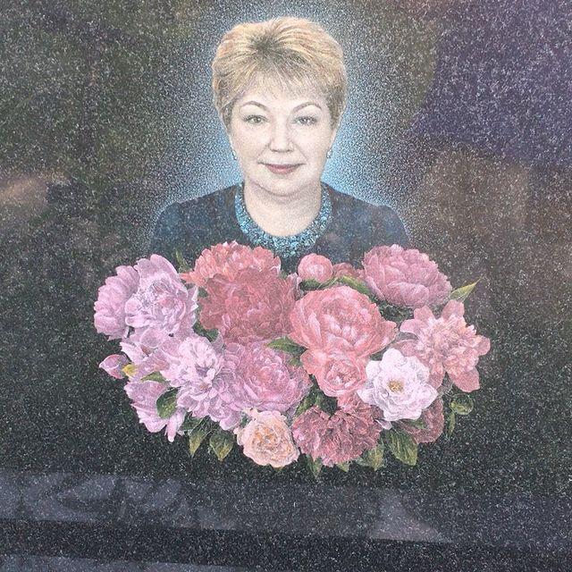 Цветное художественное оформление портрета