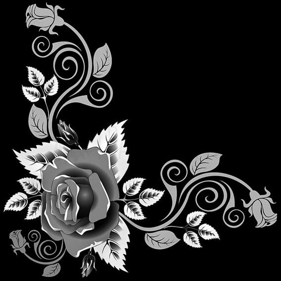 Гравировка роз на памятник