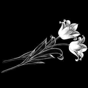 Гравировка тюльпанов