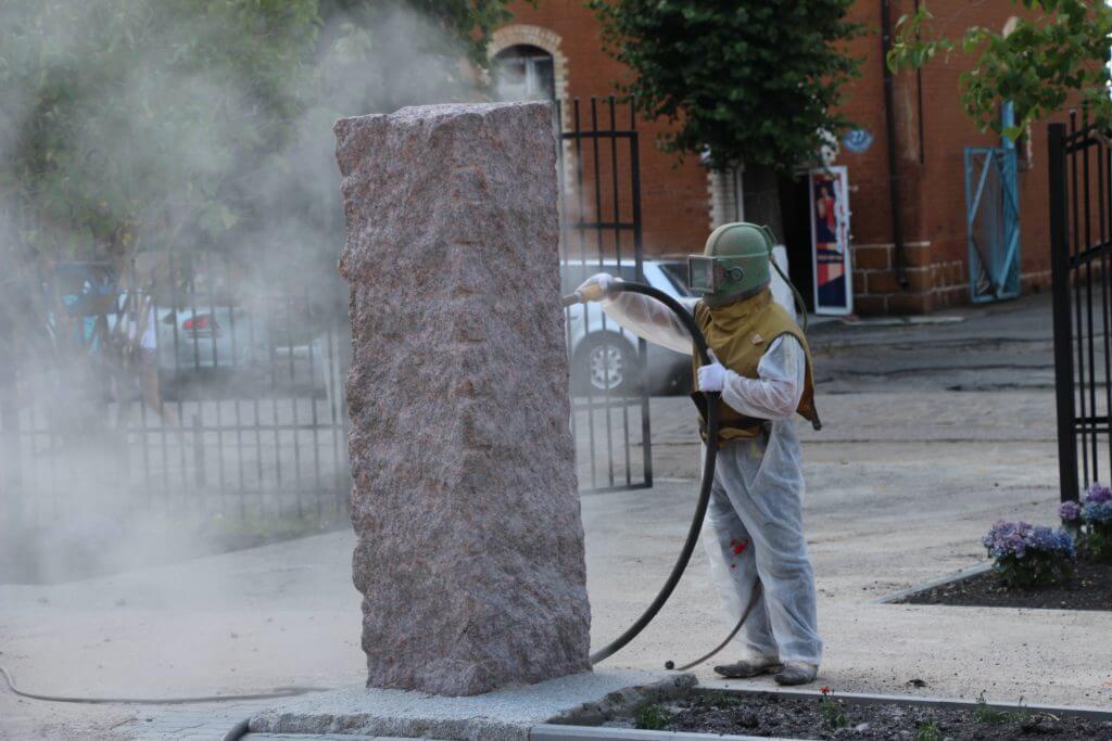 Обработка поверхности камня