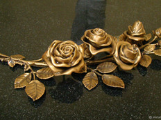 Цветы из бронзы
