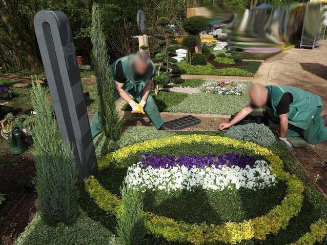Высадка растений на могиле