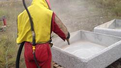 Пескоструйная обработка гранита