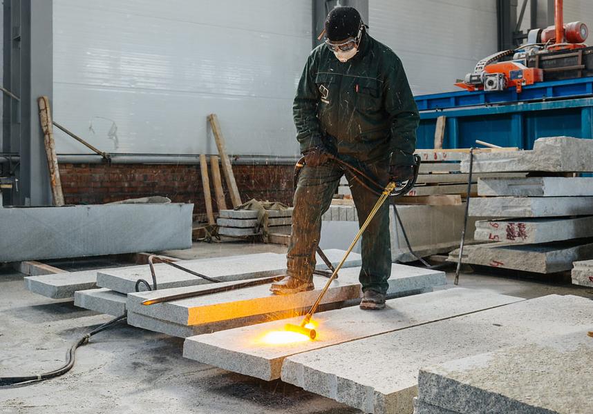 Термическая обработка камня
