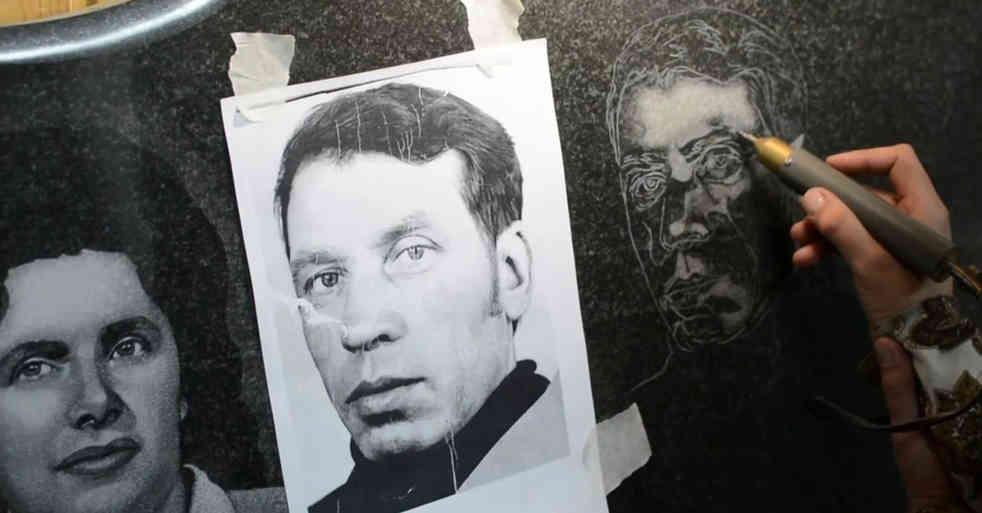 Гравировка портрета на памятнике