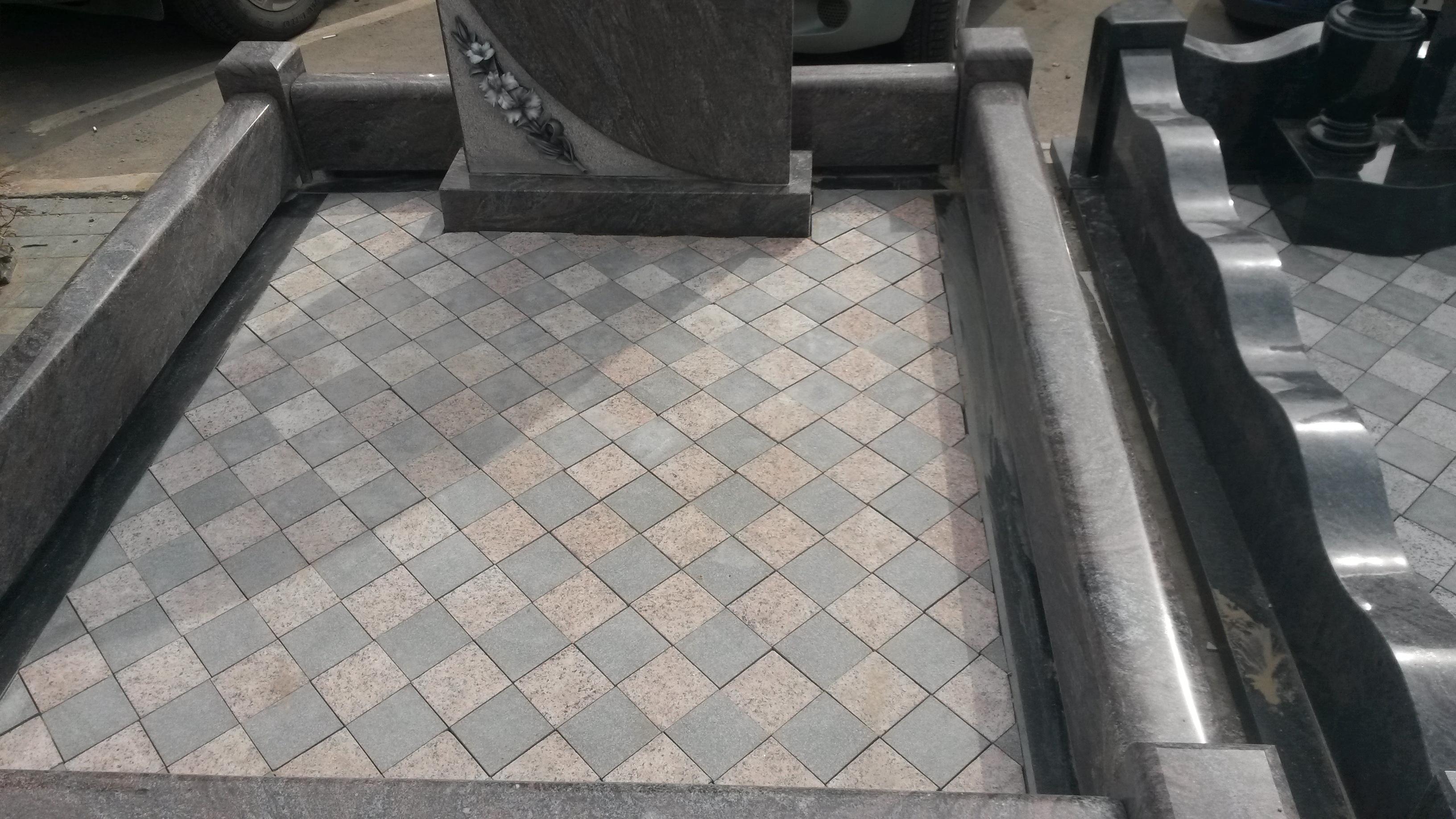 Укладка брусчатки по диагонали