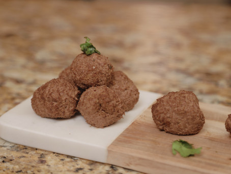 COOKED LIVER, FLAX & HEMP RAW BALLS