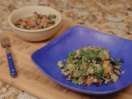 TUNA & BLACK BEAN SALAD WITH CELERY, CARROTS, RED CABBAGE, SWEET PEPPERS