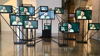 """""""Extim"""", installation réalisée à l'Atelier de l'Espace"""