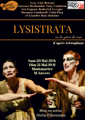 """Décor créé à l'atelier de l'espace : """"Lysistrata"""" de Aristophane"""