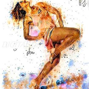 Dancing Through Portraits:#savethearts Artwork by Melissa Rubenstein