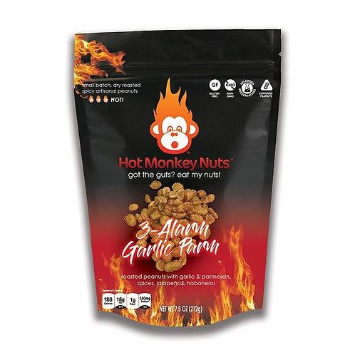 Hot Monkey Nuts 3-ALARM GARLIC PARM