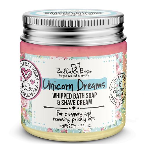 Unicorn Dreams Whipped Bath Soap & Shave Cream Bella & Bear