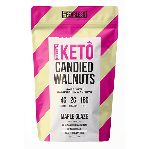 Keto Candied Walnuts - Maple Glaze