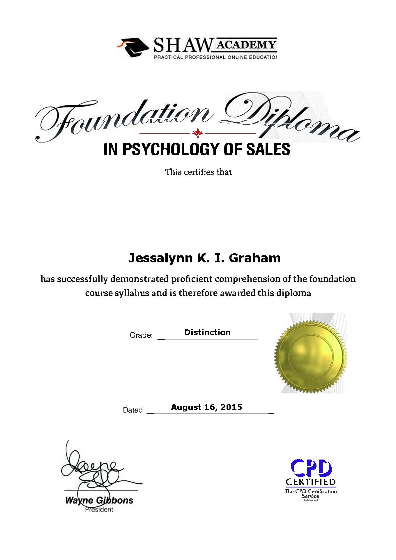 Psychology of Sales Diploma