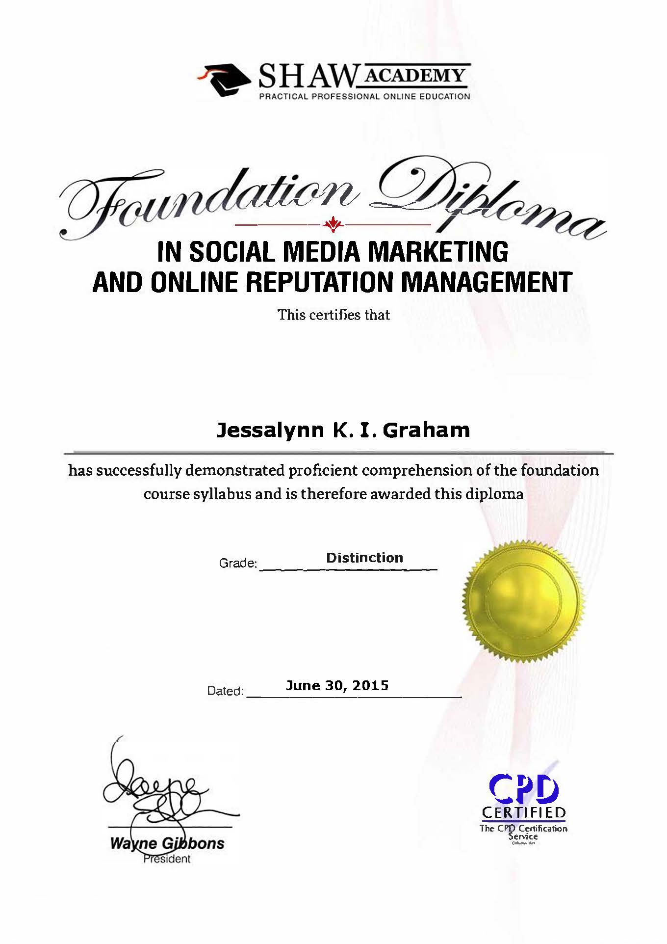 Diploma in Social Media Marketing...