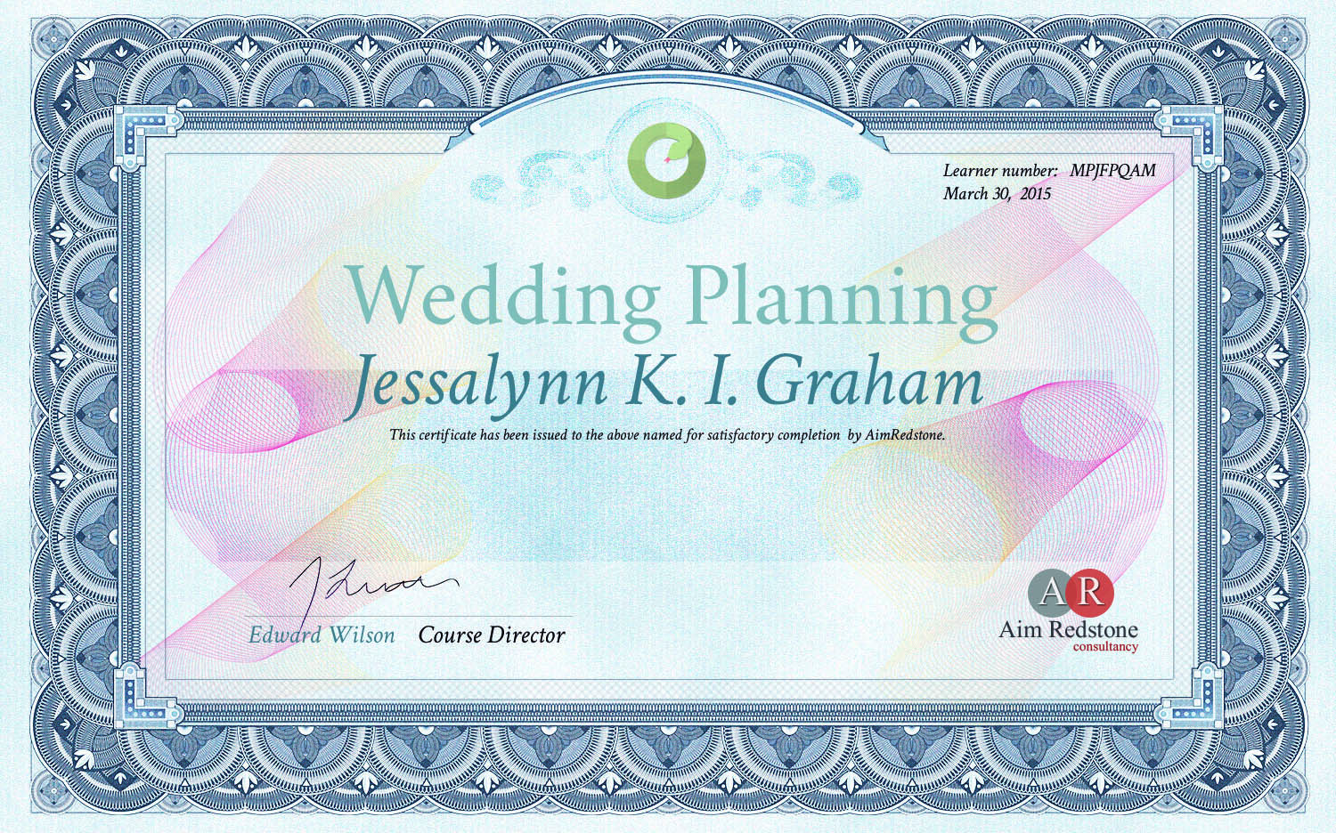 Certified Wedding Planner USA & UK