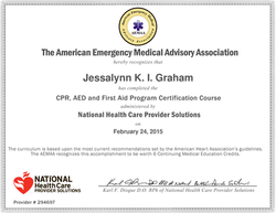 CPR, First Aid & AED Certified