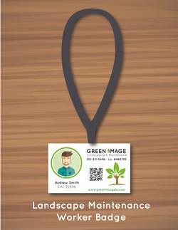 Landscape Maintenance Worker Badge
