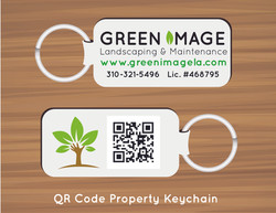 QR Code Property Keychain